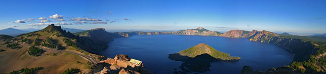 Crater Lake, Oregon - a highlight of our bicycle tour