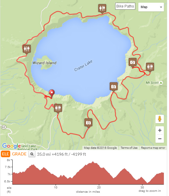 Bicycling Crater Lake Via Bike Tours