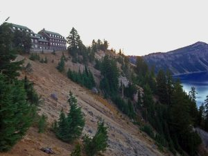 Crater Lake Lodge at Sunset